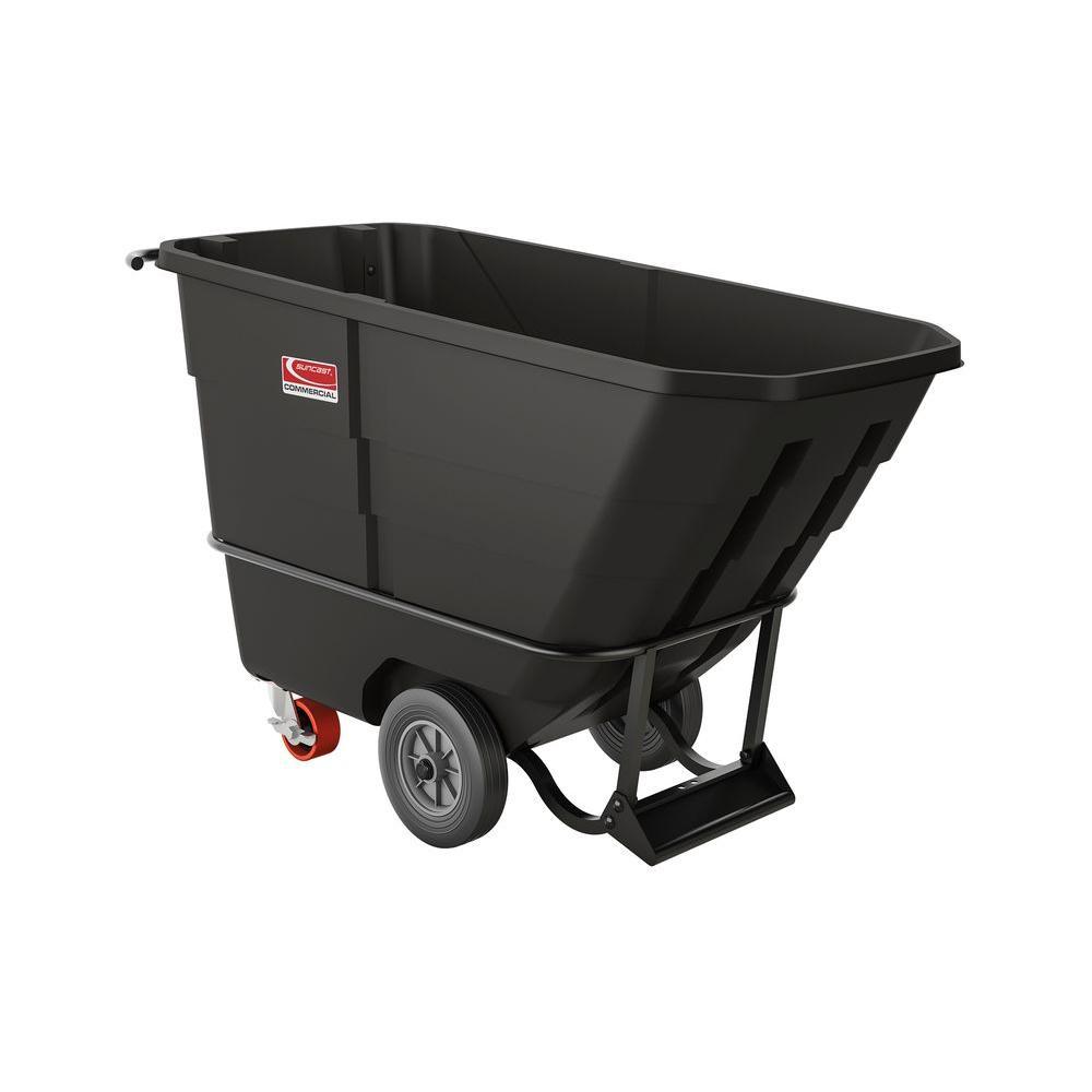 900 lb. Capacity 1/2 Yard Standard Duty Towable Tilt Truck