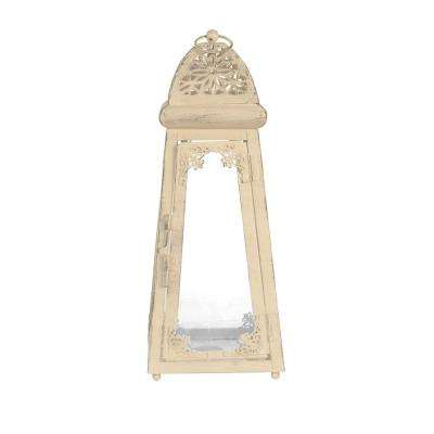 Sorrento 5 in. x 12 in. Glass and Metal Lantern Terrarium