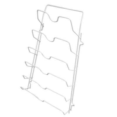 9.5 in. x 3.25 in. x 16.75 in. White Iron Wall Mounted Shelf with Brackets