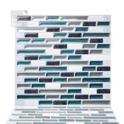 Como Bay 10 in. W x 10 in. H Peel and Stick Self-Adhesive Decorative Mosaic Wall Tile Backsplash (5-Tiles)