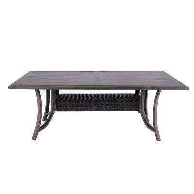 Demeter Aluminum and PE Wicker Outdoor Dining Table