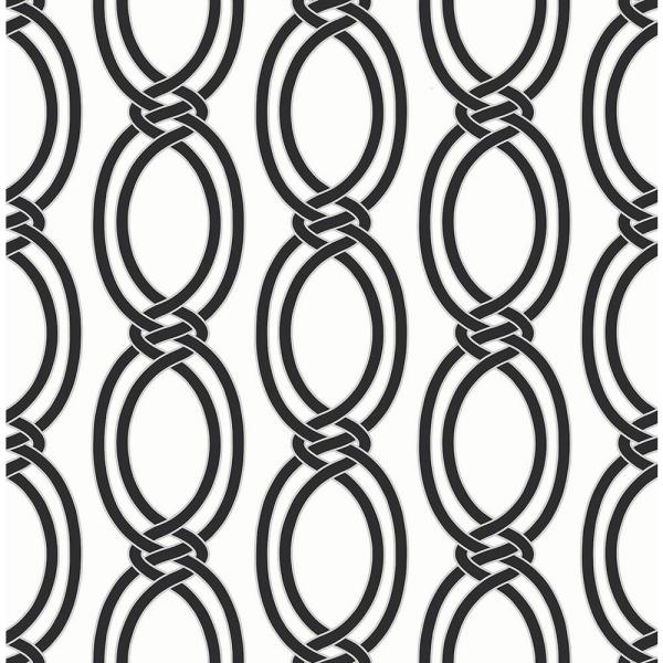 A-Street Infinity Black Geometric Stripe Wallpaper 2625-21834