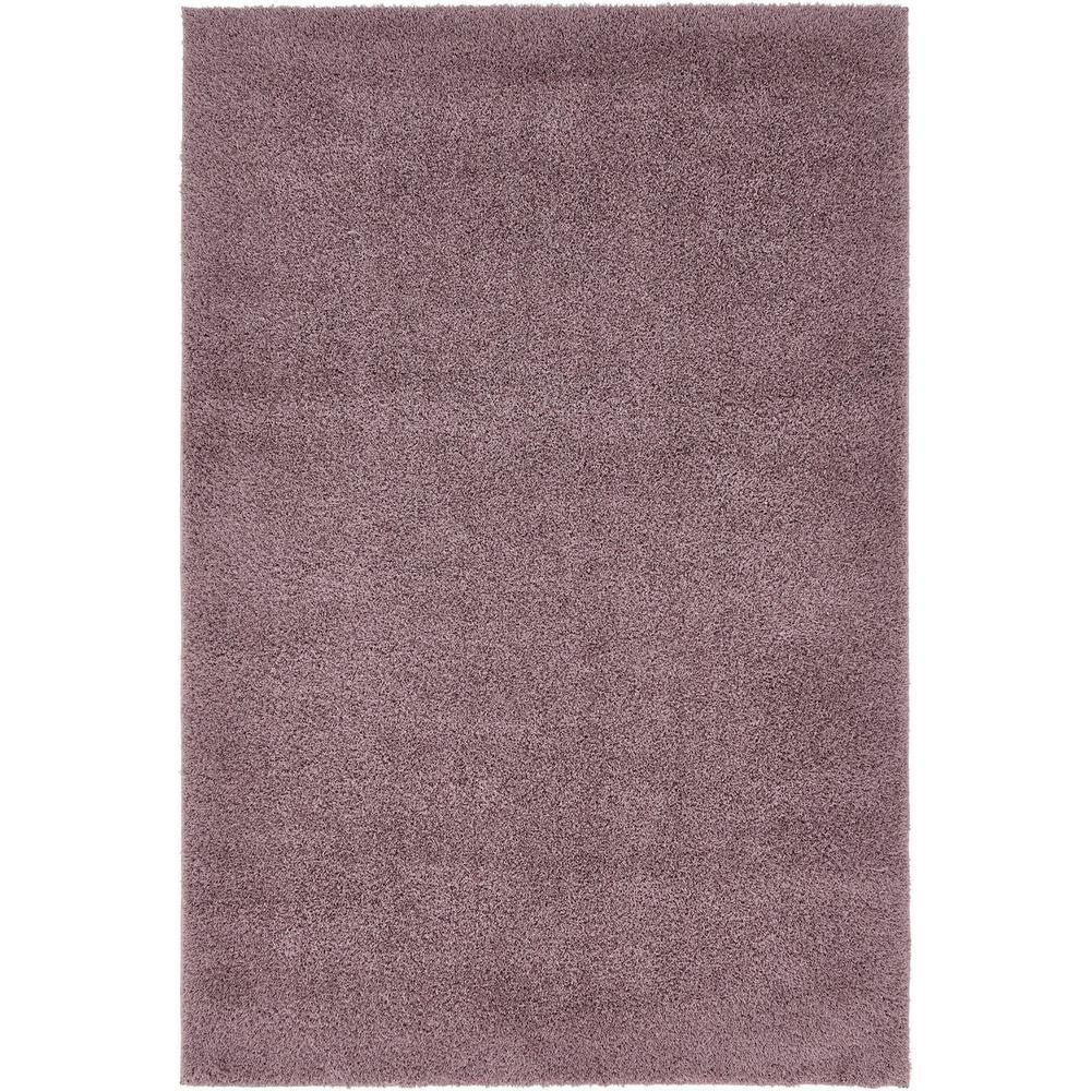 solid shag mauve 4 ft x 6 ft area rug