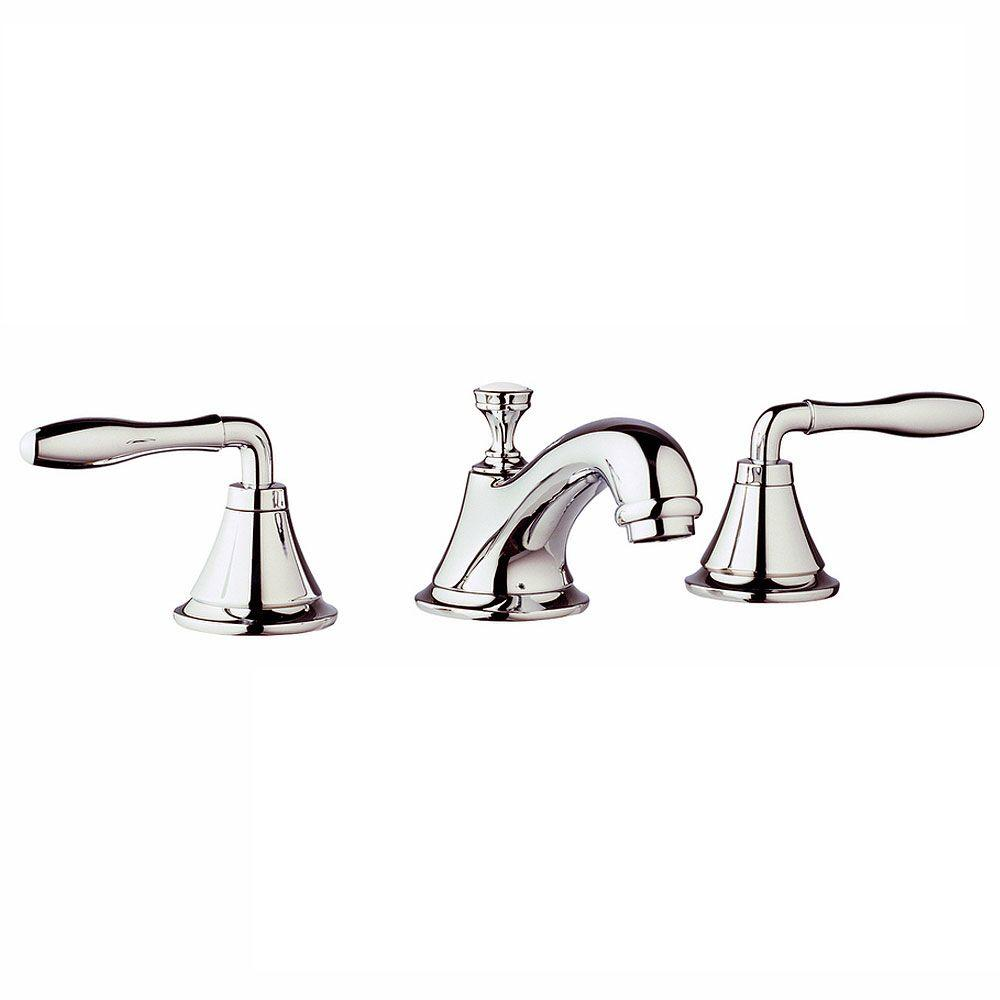 GROHE Seabury 8 in. Widespread 2-Handle Low-Arc Bathroom Faucet in ...