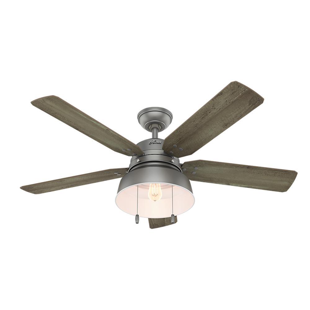 Mill Valley 52 in. LED Outdoor Matte Silver Ceiling Fan