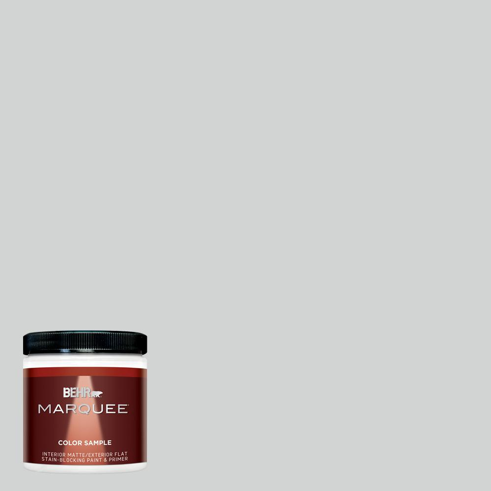 BEHR MARQUEE 8 oz. 780E-3 Sterling Matte Interior/Exterior Paint and Primer in One Sample