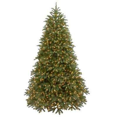 7.5 ft. Jersey Fraser Fir Medium Artificial Christmas Tree with Warm White LED Lights
