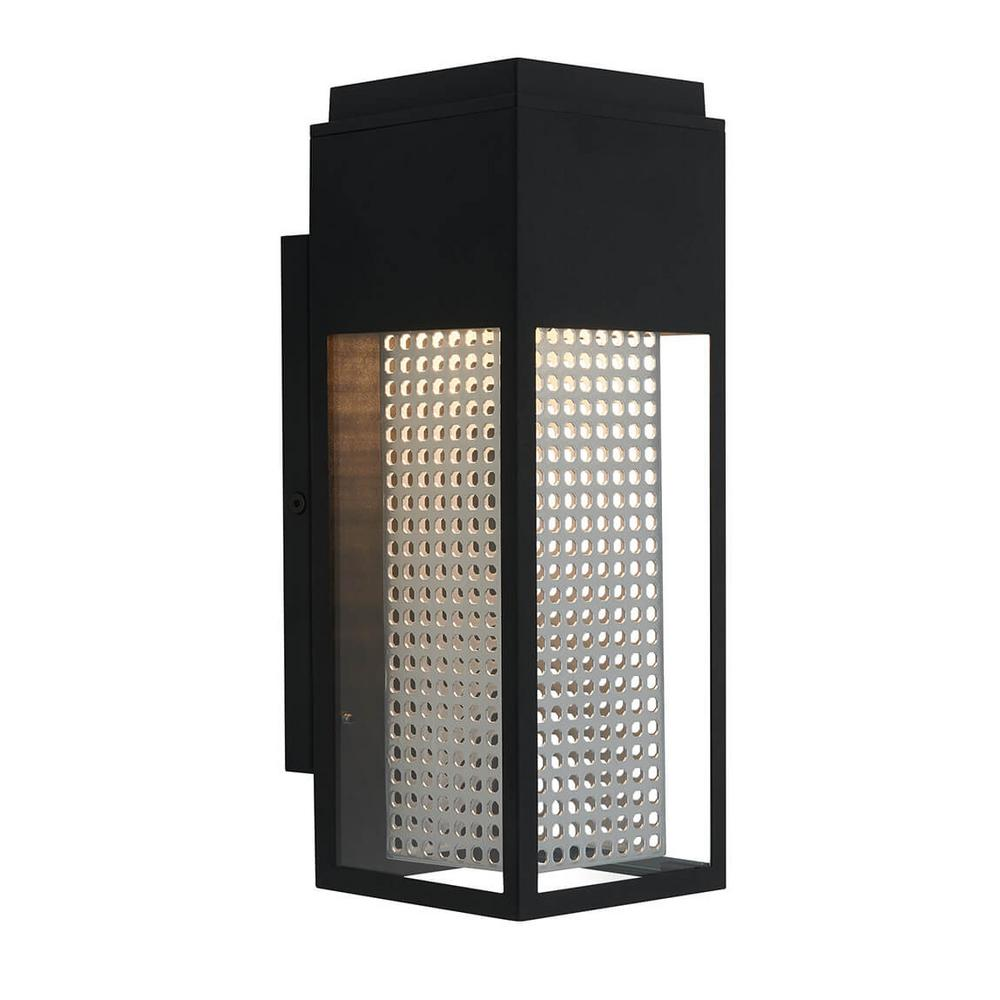 Artika Artika Medium Meteor Black Outdoor Integrated LED Wall Mount Lantern