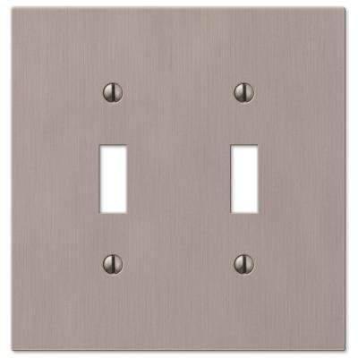 Barnard 2 Toggle Wall Plate - Brushed Nickel Cast