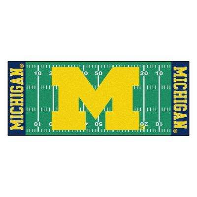 University of Michigan 3 ft. x 6 ft. Football Field Runner Rug