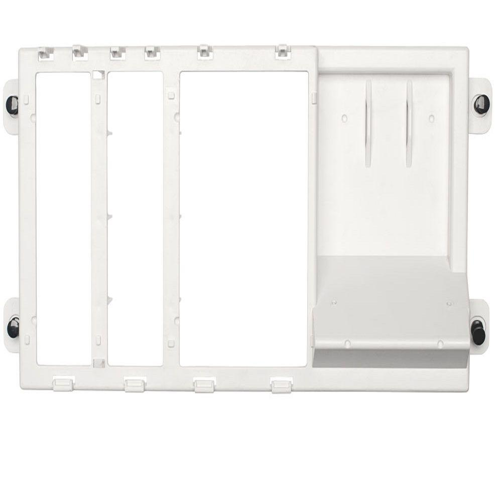 Structured Media Center 2-Single Bays or 1-Double Bay Empty Shelf Bracket