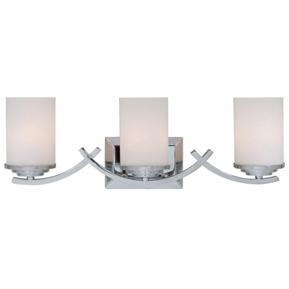 bathroom vanity lights chrome finish. Y Decor Brina 3 Light Chrome Bath Vanity L4090 3V CH  The
