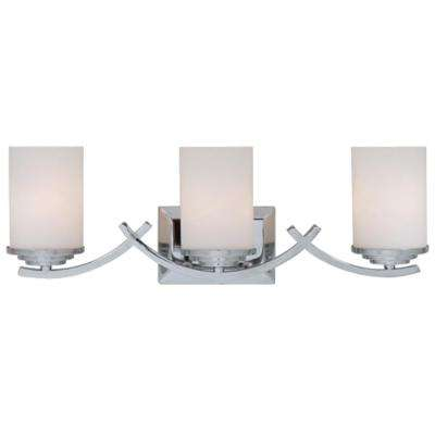 Brina 3-Light Chrome Bath Vanity Light