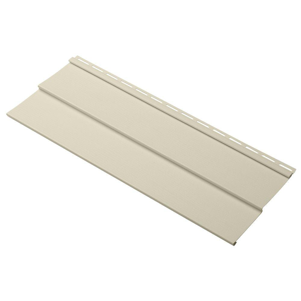 Cellwood Evolutions Double 4.5 in. x 24 in. Dutch Lap Vinyl Siding Sample in Beige