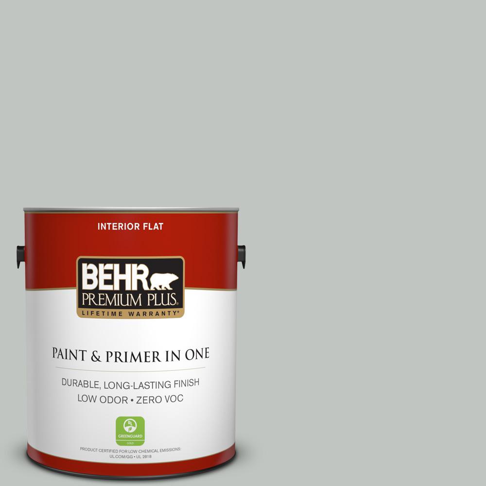 1 gal. #PPU25-14 Engagement Silver Zero VOC Flat Interior Paint