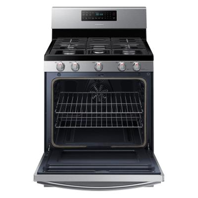 30 in. 5.9 cu. ft. Single Oven Gas Range with Air Fry, True Convection in Stainless Steel