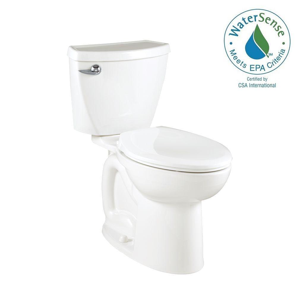 Cadet 3 Powerwash Compact Tall Height 2-piece 1.28 GPF Elongated Toilet