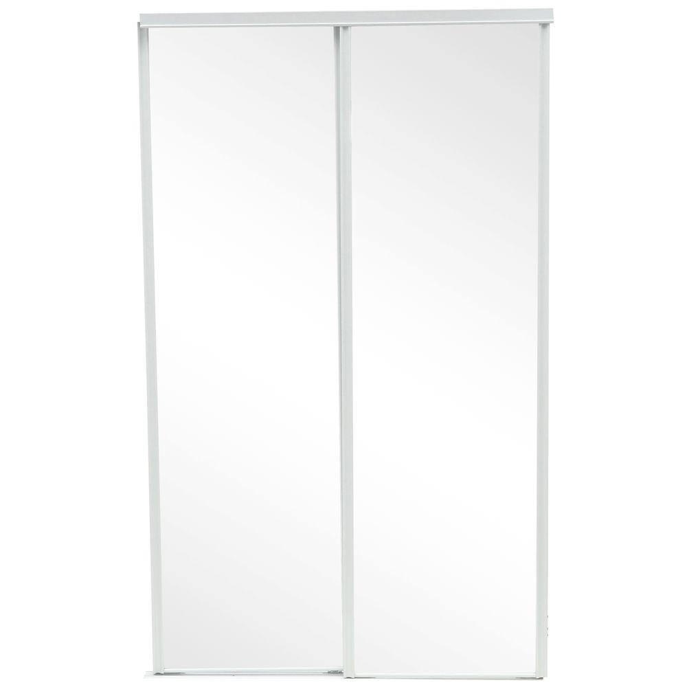 230 series white mirror interior sliding door341400 the home depot