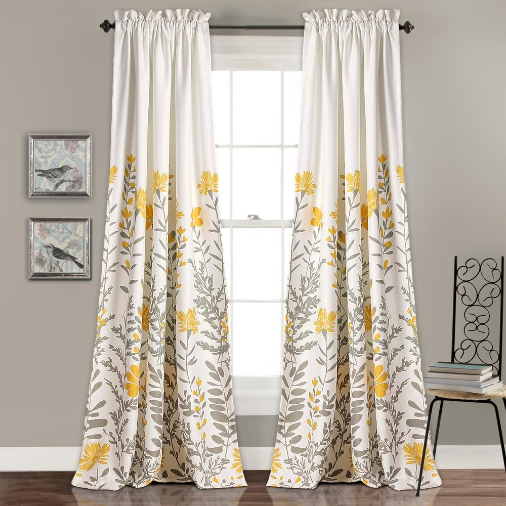 Kitchen Curtains Yellow And Gray: Lush Decor Aprile Window Panels Yellow