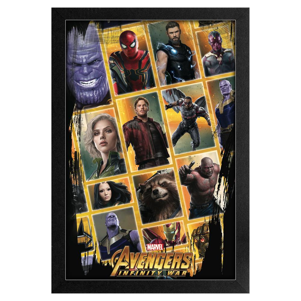 Avengers -Infinity War- Avengers Pattern 11x17 Framed Print
