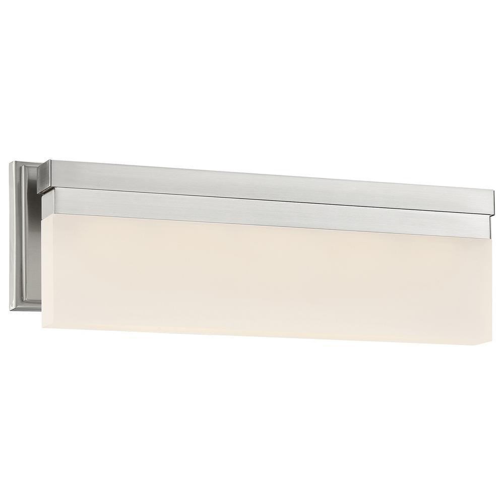 Skinny 28-Watt Brushed Nickel Integrated LED Bath Light