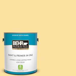 Behr Premium Plus 1 Gal P280 3 Polka Dot Skirt Semi Gloss Enamel Low Odor Interior Paint And Primer In One 340001 The Home Depot