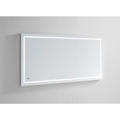 Daytona 72.00 in. W x 36.00 in. H Frameless Rectangular LED Light Bathroom Vanity Mirror in Clear
