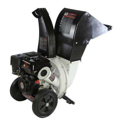 2.25 in. 6.5 HP 212cc Gas Powered, Unique Innovation 3-in-1 Discharge Chute Chipper Shredder with Gloves, Safety Goggles