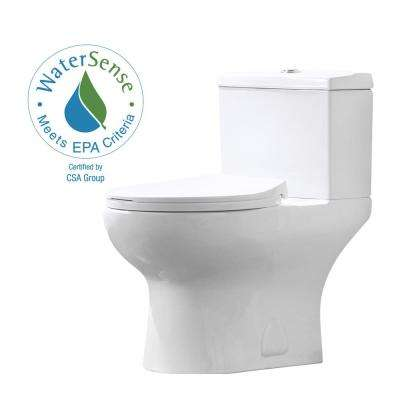 Beck 12 in. Rough-In 2-Piece 1/1.6 GPF Dual Flush Elongated Toilet in White, Seat Included