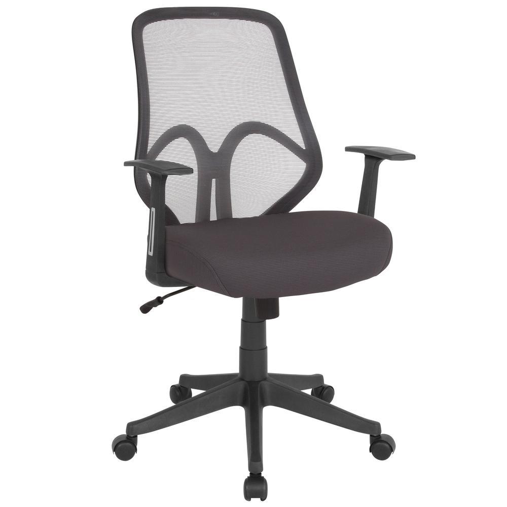Dark Gray Mesh Office Desk Chair