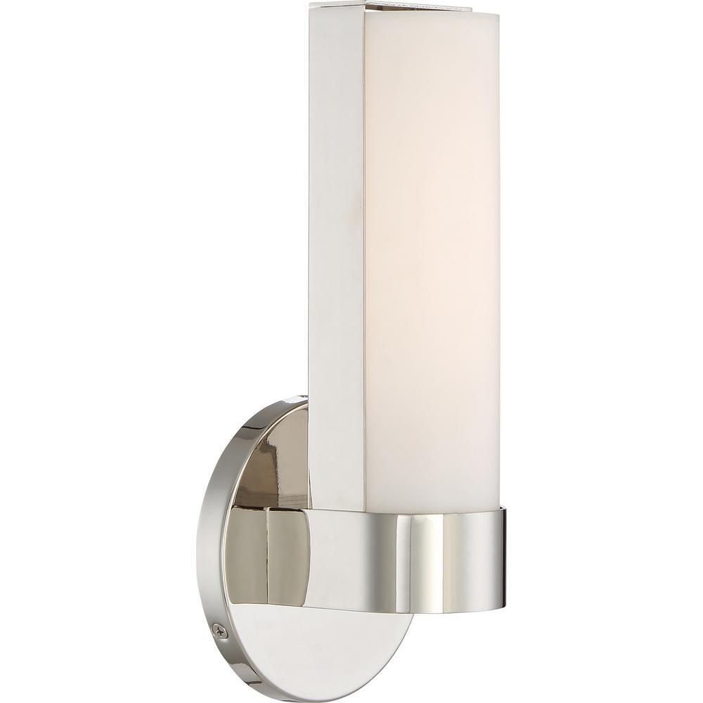 10-Watt Polished Nickel Integrated LED Bath Light