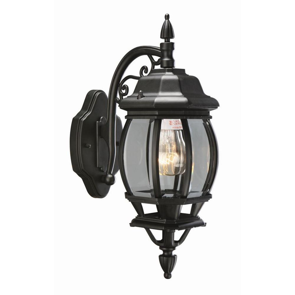 Design House Canterbury Black Outdoor Wall-Mount Die-Cast Downlight