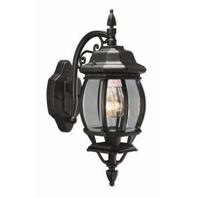 Canterbury Black Outdoor Wall-Mount Die-Cast Downlight