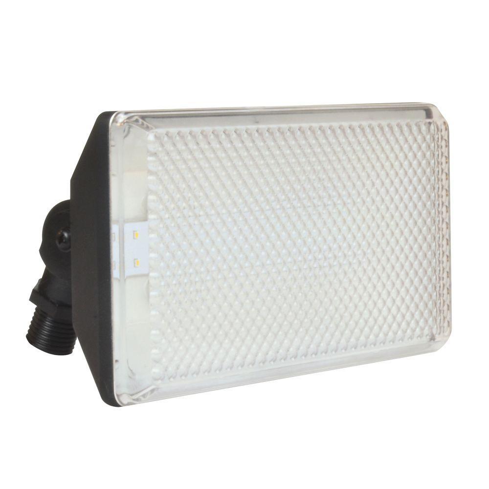 28-Watt Black Outdoor Integrated LED Flood Light