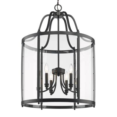 Payton 6-Light Black Pendant