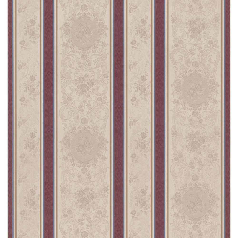 Brewster 56 Sq. Ft. Rose Scroll Cameo Wallpaper-DISCONTINUED