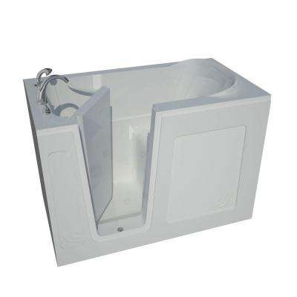 HD Series 30 in. x 54 in. Left Drain Quick Fill Walk-In Soaking Bathtub in White