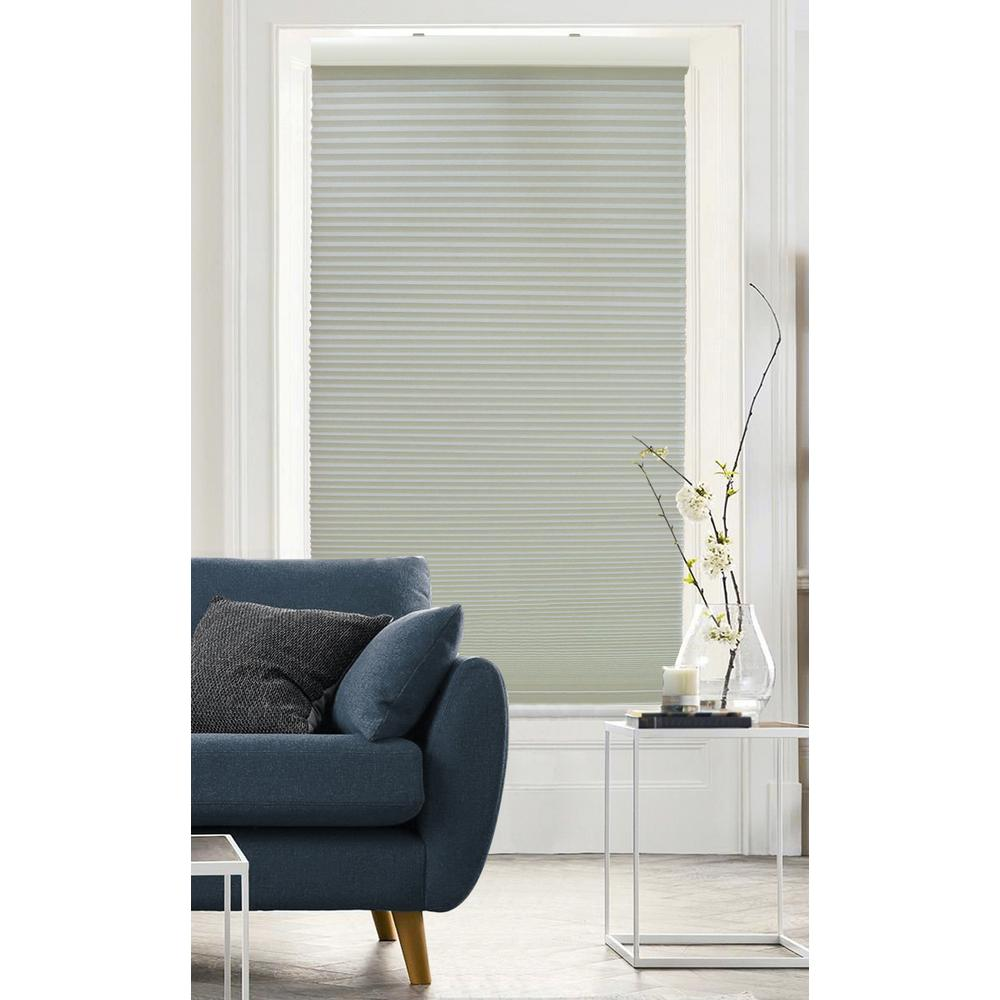 Radiance Cut-to-Size Slate Gray Cordless Light Filtering Cellular Shade - 39 in. W x 72 in. L (Actual Size 38.5 in. W x 72 in. L)