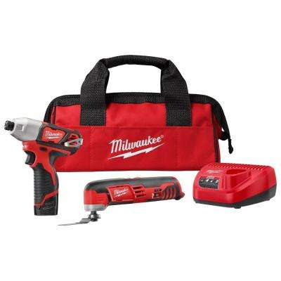 M12 12-Volt Lithium-Ion Cordless Oscillating Multi-Tool and Impact Driver Combo Kit (2-Tool) with Battery and Charger