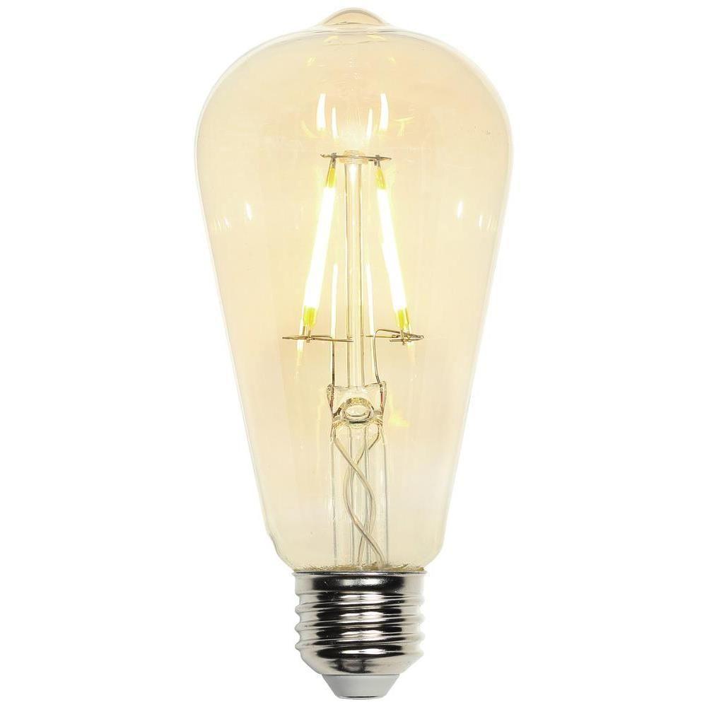40W Equivalent Soft White (2,000K) Decorative ST20 Medium Base Dimmable Filament LED Light Bulb