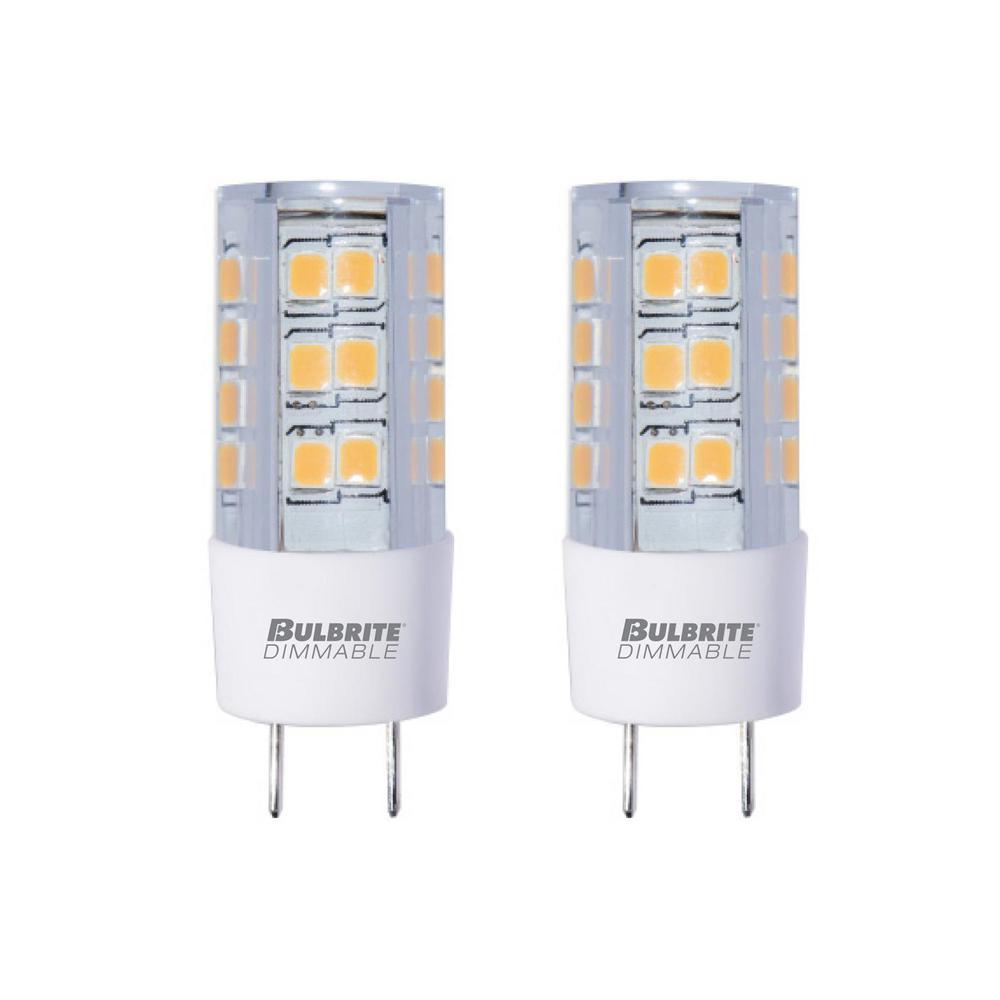 35-Watt Equivalent T4 Dimmable Bi-Pin (GY8) LED Light Bulb Soft White Light (2-Pack)