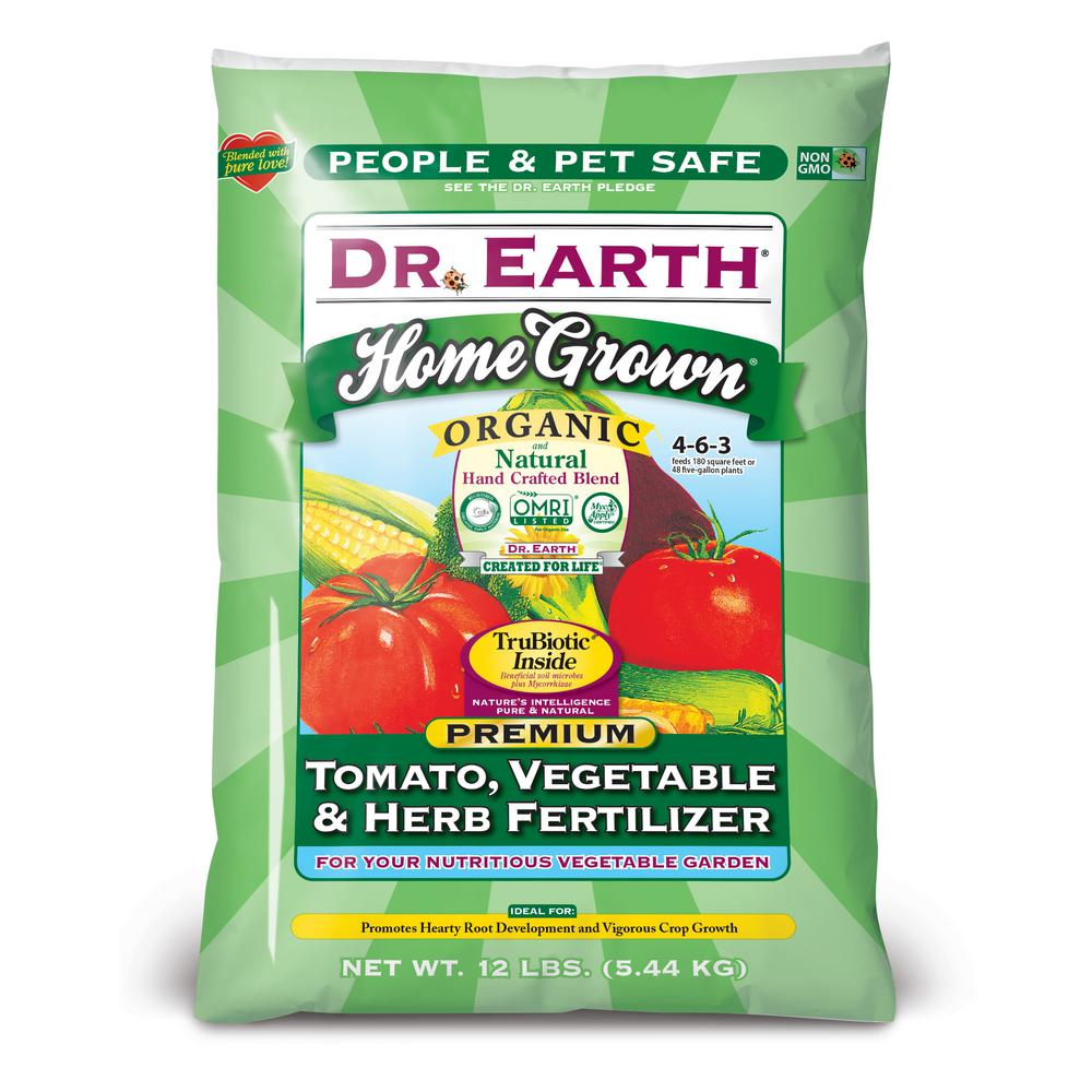 Dr earth 12 lb 180 sq ft home grown tomato vegetable for Vegetable garden fertilizer
