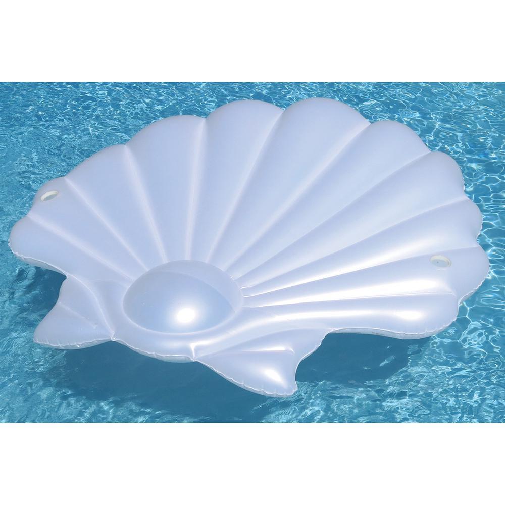 72 in. Pearl Seashell Island Pool Float