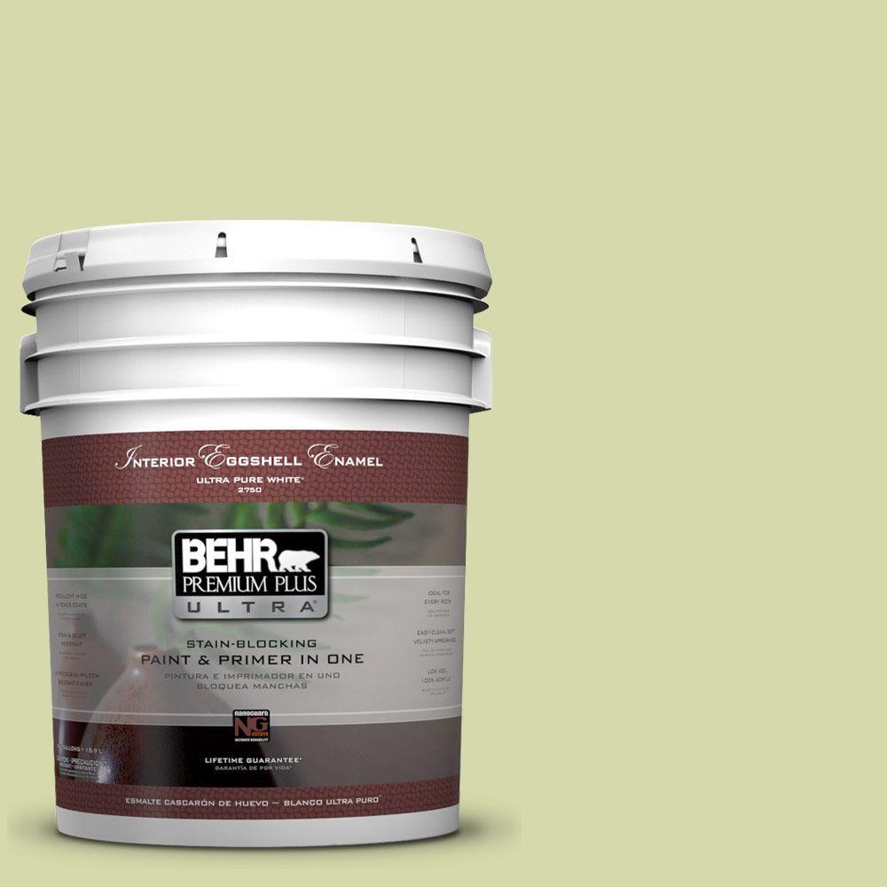 BEHR Premium Plus Ultra 5-gal. #410C-3 Celery Sprig Eggshell Enamel Interior Paint