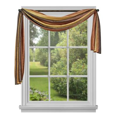 Ombre 144 in. L Polyester Window Curtain Scarf in Autumn