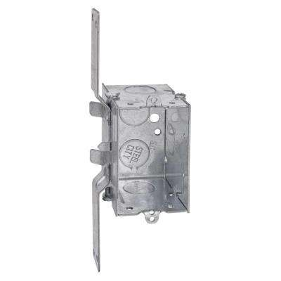 1 Gang 12.5 cu. in. Pre-Galvanized Steel Gangable Old Work Switch Box (Case of 25)