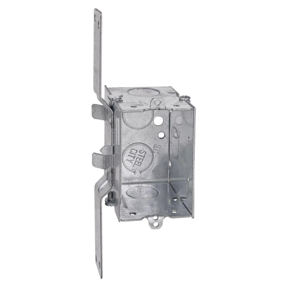 Steel City 1 Gang 12.5 cu. in. Pre-Galvanized Metal Gangable Old Work Switch Box (Case of 25)