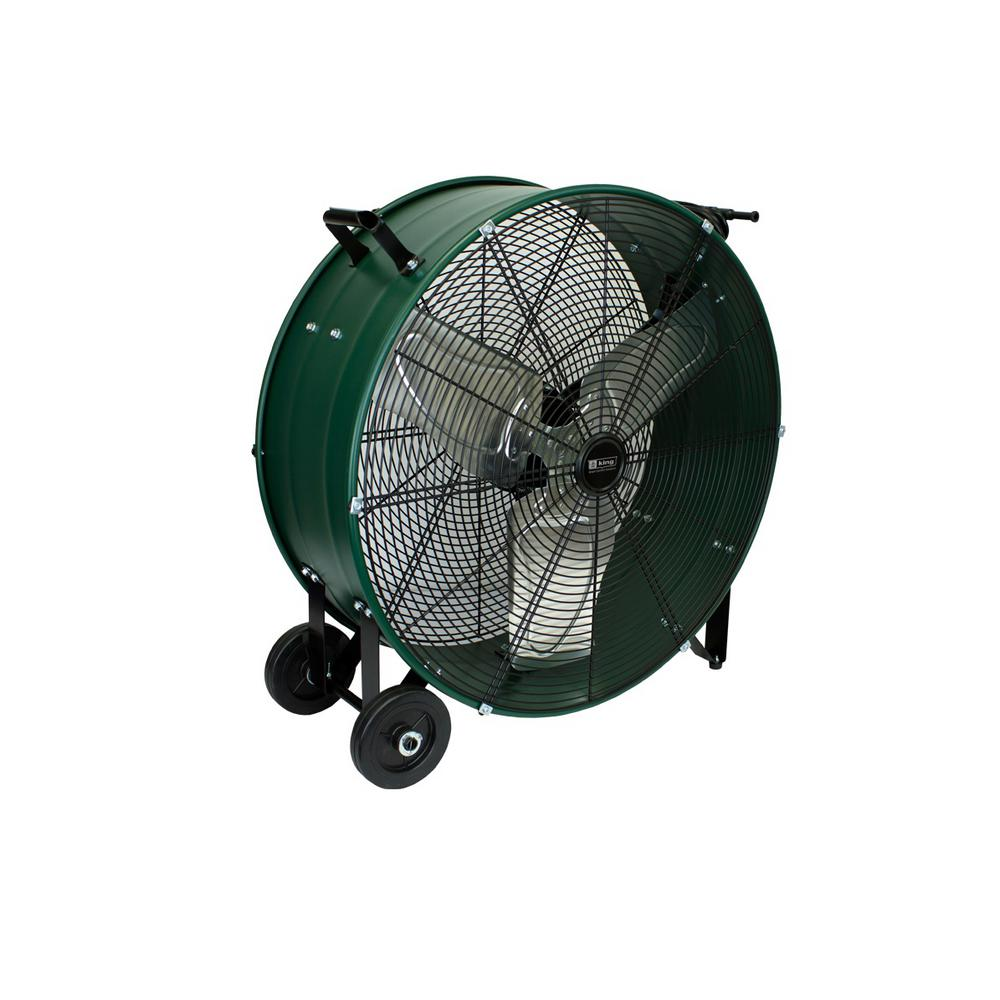 King Electric Drum Fan, 36 in. Direct Drive, Fixed
