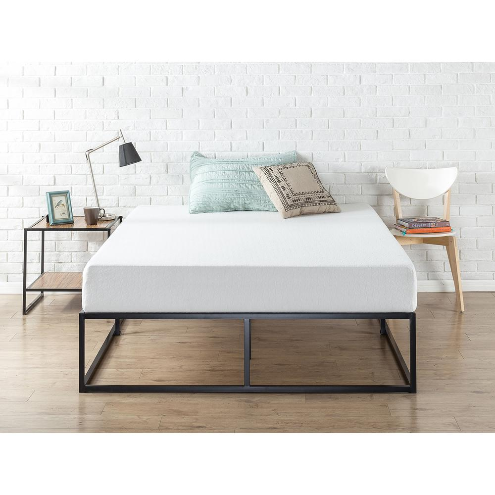 contemporary bed frames zinus modern studio 14 in platforma bed frame hd 11186