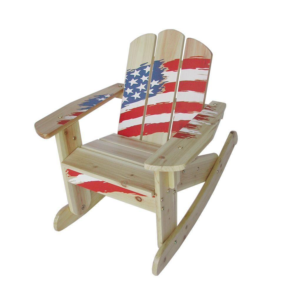 Lohasrus Flag Collection Kids Rocking Chair